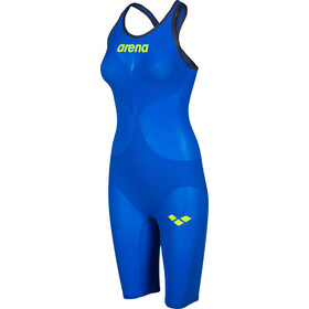 arena Powerskin Carbon Air 2 Combinaison courte fermée dans le dos Femme, electric blue/grey/yellow